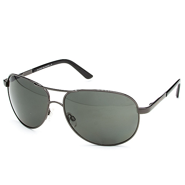 SunCloud Aviator Sunglasses, Gunmetal-Gray Polarized, 600