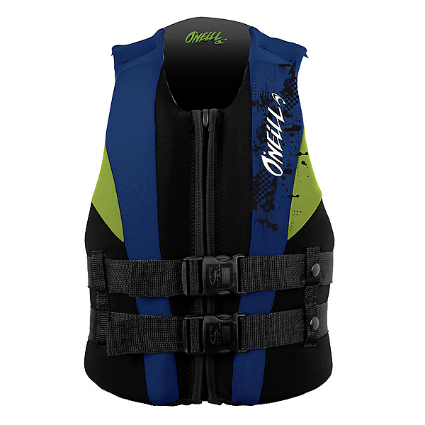 O'Neill Youth USCG Junior Life Vest 2020, Black-Pacific-Day Glo, 600
