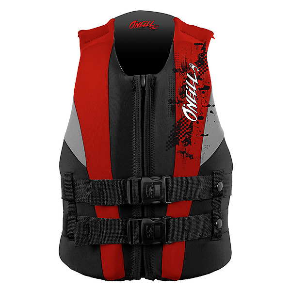 O'Neill Youth USCG Junior Life Vest, Coal-Red-Flint, 600
