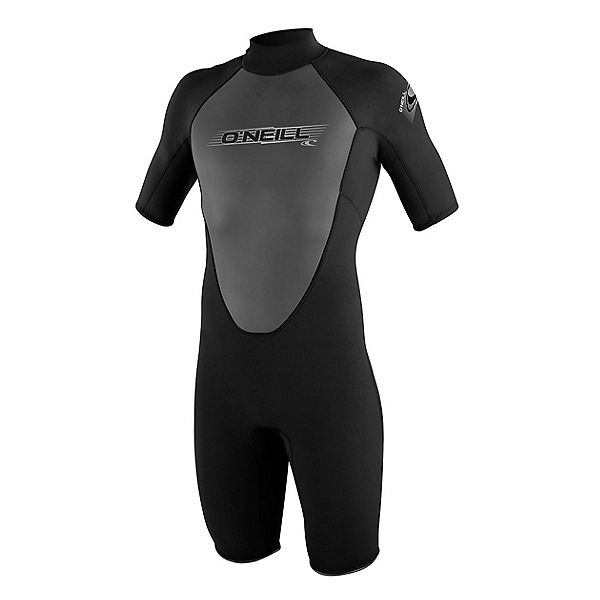 O'Neill Reactor 2mm Shorty Wetsuit 2017, Black-Black-Black, 600