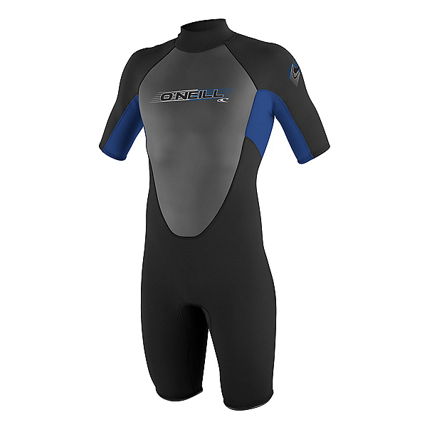 O'Neill Reactor 2mm Shorty Wetsuit 2017, Black-Pacific-Graphite, 600