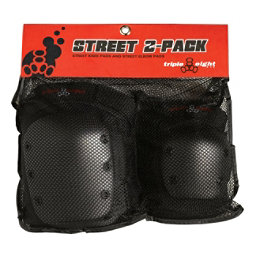 Triple 8 Street Protective 2-Pack, Black, 256