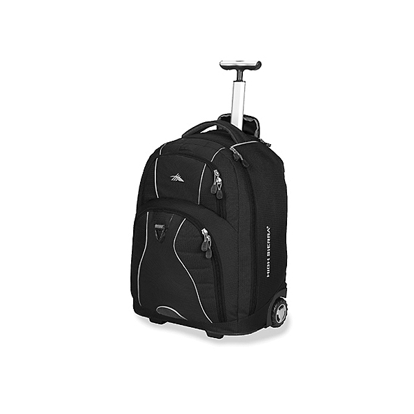 High Sierra Freewheel Wheeled Bag, Black, 600
