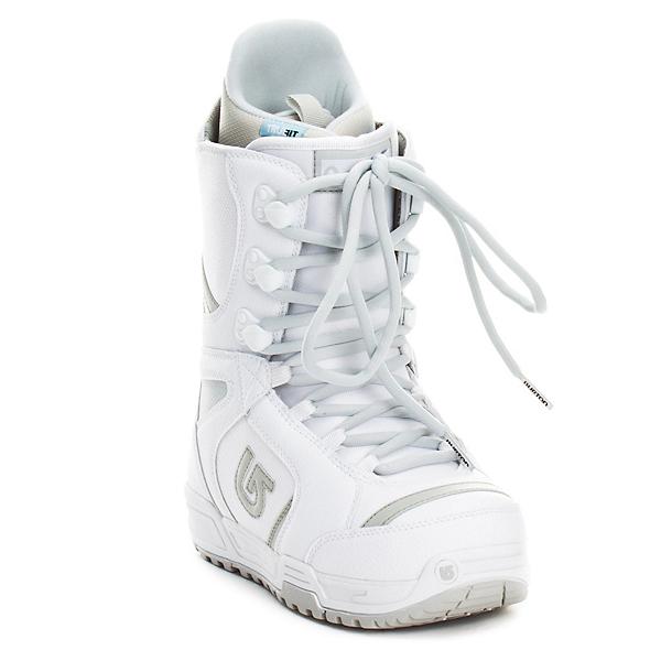 Burton Coco Womens Snowboard Boots, White-Silver, 600