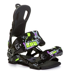 Gnu Park Snowboard Bindings, Black-Green, 256