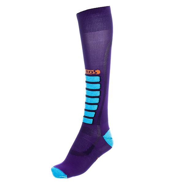 Euro Sock Silver Ultra Light Womens Ski Socks, Purple, 600