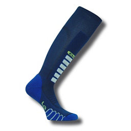 Euro Sock Silver Supreme Light Ski Socks, Navy, 256
