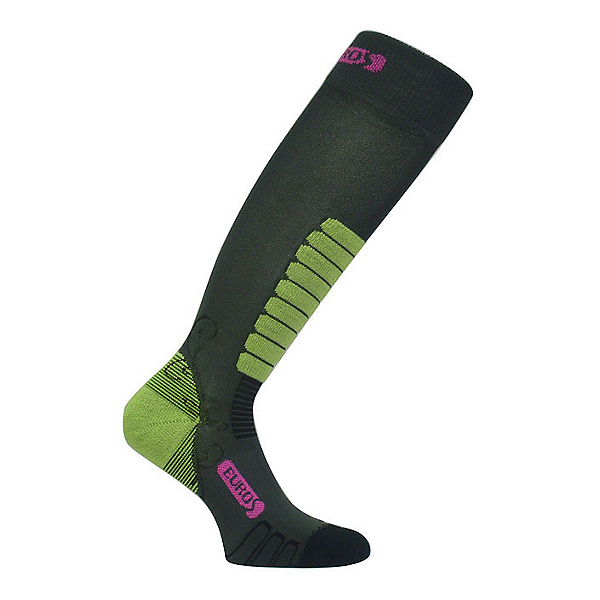 Euro Sock Sweet Silver Womens Ski Socks, Dark Grey, 600