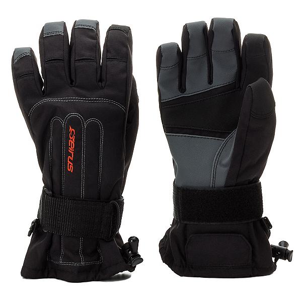 Seirus Skeleton Wrist Protection Gloves, Black, 600