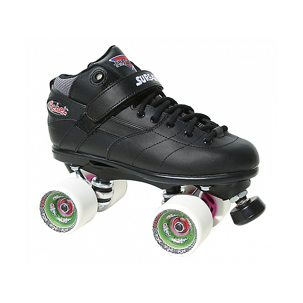Sure Grip International Rebel Fugitive Speed Roller Skates, Black-White, 600