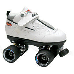 Sure Grip International Rebel Fugitive Speed Roller Skates, White-Black, 256