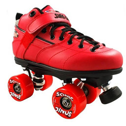 Sure Grip International Rebel Sonic Speed Roller Skates, Red, 256