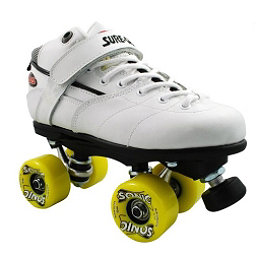 Sure Grip International Rebel Sonic Boys Speed Roller Skates, White, 256