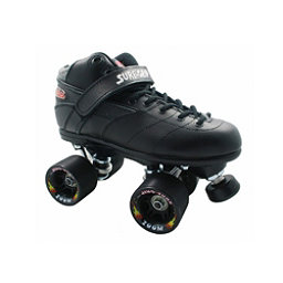 Sure Grip International Rebel Zoom Speed Roller Skates, Black, 256