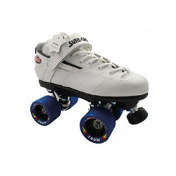 Sure Grip International Rebel Zoom Speed Roller Skates, White, 256