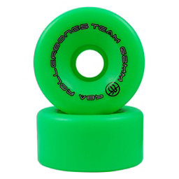 Rollerbones Team Series - 8 Pack Roller Skate Wheels, Green, 256