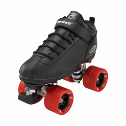 Riedell Dart Black Speed Roller Skates 2018, Black, 256