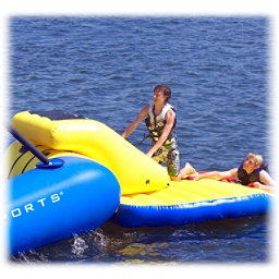 Rave Access Ramp Water Trampoline Attachment, Yellow-Blue, 256