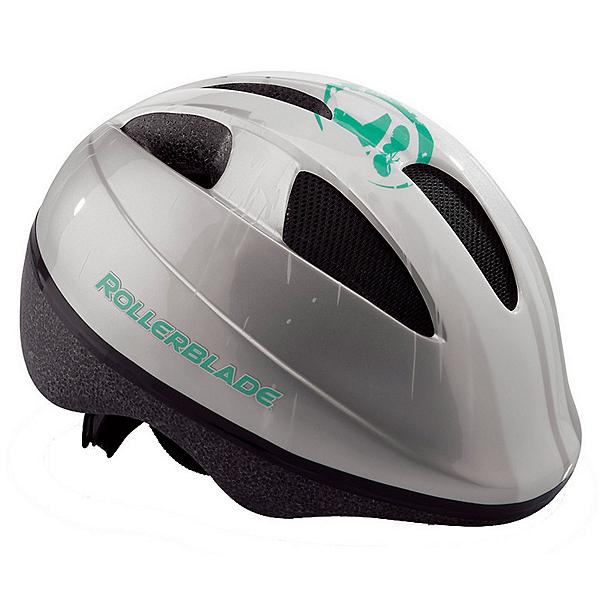 Rollerblade Zap Girls Fitness Helmet, Silver-Green, 600