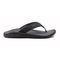 OluKai Ohana Mens Flip Flops, Black-Dark Shadow, 256