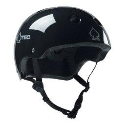 Pro-Tec Classic Plus Mens Skate Helmet, Gloss Black, 256