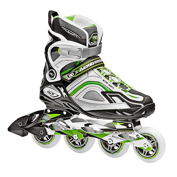 Roller Derby Aerio Q 90 Womens Inline Skates, Green-White-Gray, 600