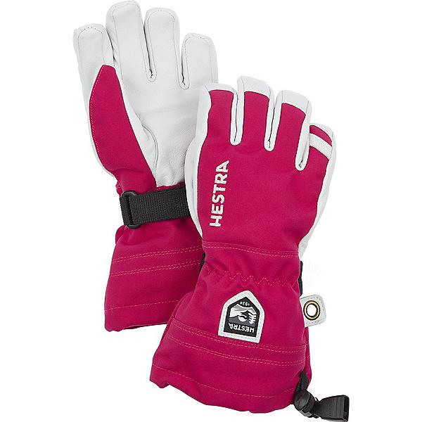 Hestra Heli Ski Jr Kids Gloves, Fuschia, 600