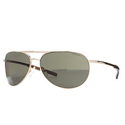 Smith Serpico Slim Polarized Sunglasses, Gold-Polarized Gray Green, 256