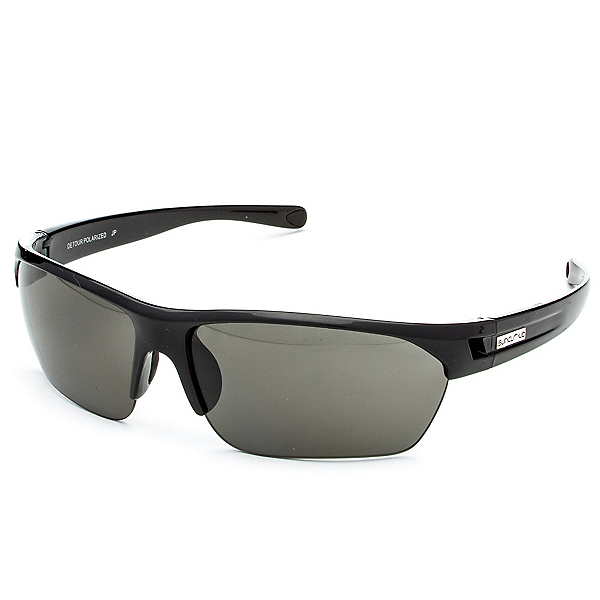 SunCloud Detour Polarized Sunglasses, Black-Gray Polarized, 600