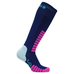 Euro Sock Sweet Silver Womens Ski Socks, Navy, 256
