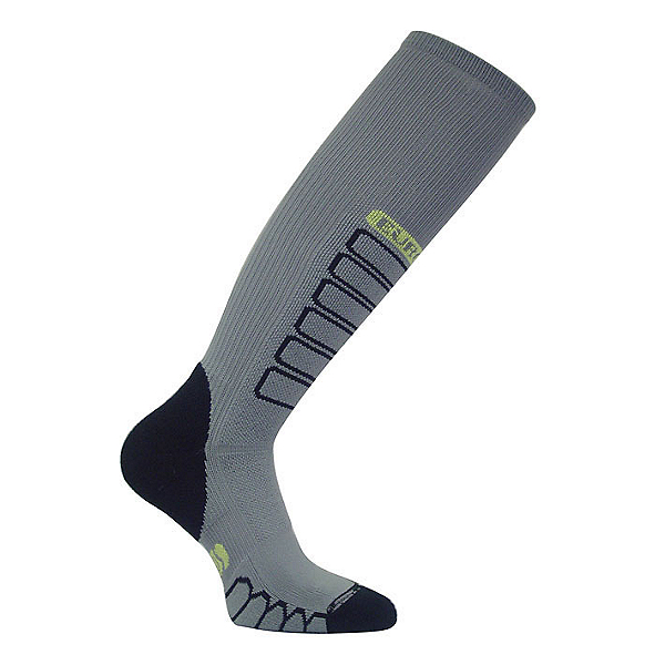 Euro Sock Ski Compression Ski Socks, Grey, 600