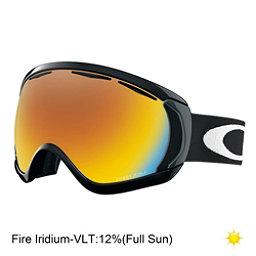 Oakley Canopy Goggles, Matte Black-Fire Iridium, 256
