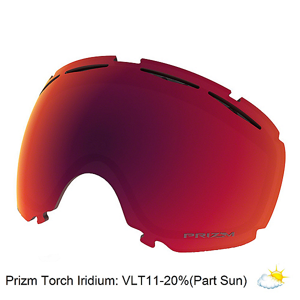 Oakley Canopy Goggle Replacement Lens 2018, Prizm Torch Iridium, 600