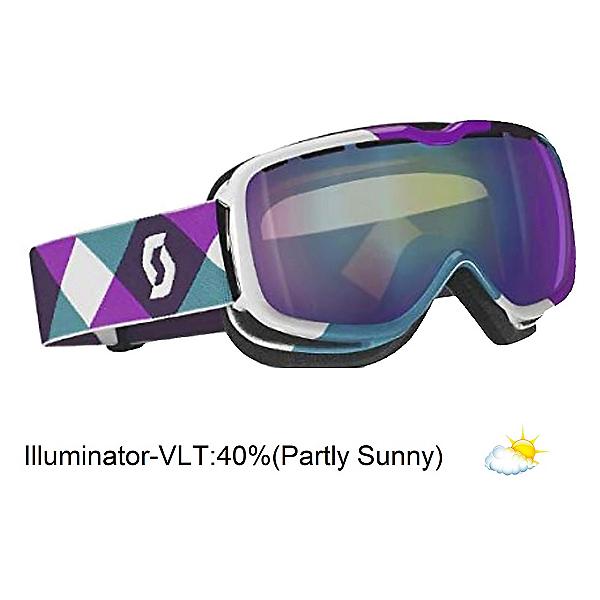Scott Aura Womens Goggles, Overprint Pugn-Illuminator 40, 600