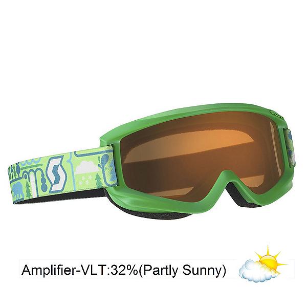 Scott Agent Kids Goggles, Green-Amplifier, 600
