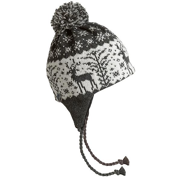 Turtle Fur Dear Deer Earflap Womens Hat, Charcoal, 600