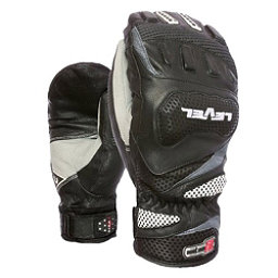 Level Race CF Ski Racing Mittens, Black, 256