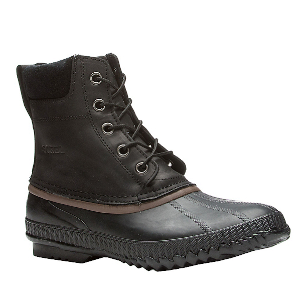 Sorel Cheyanne Lace Mens Boots, Black-Dark Brown, 600
