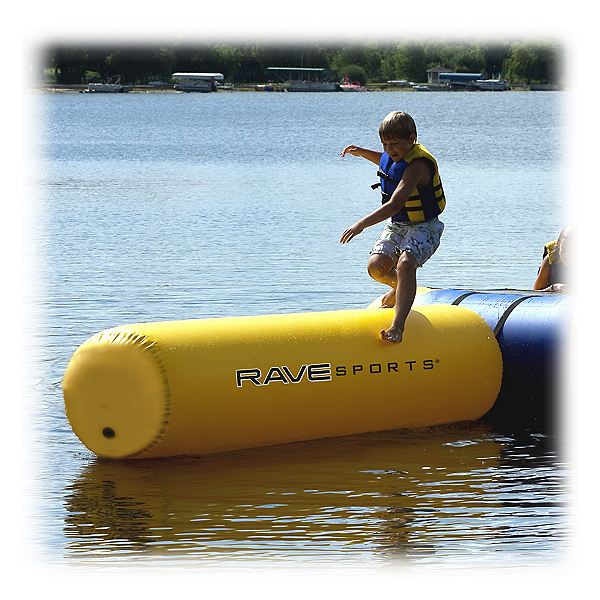 Rave Aqua Log Small Water Trampoline Attachment, , 600