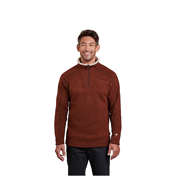 KUHL Europa 1/4 Zip Mens Mid Layer, Red Rock, 600