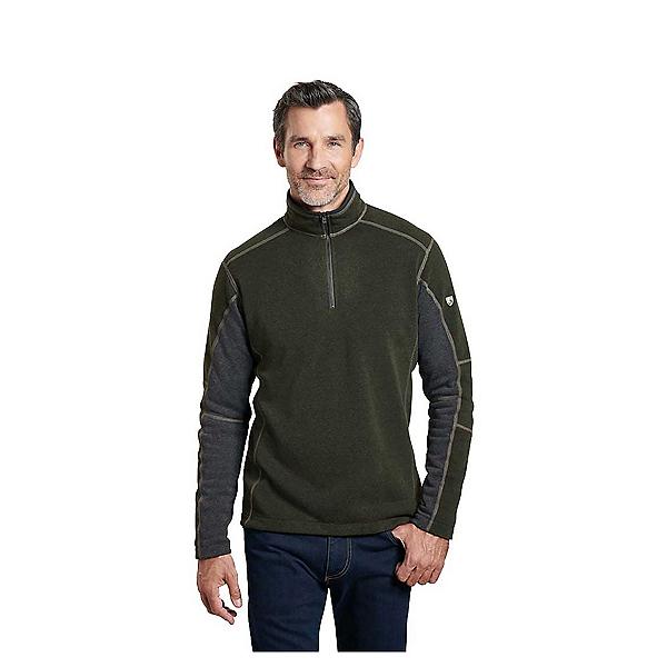 KUHL Revel 1/4 Zip Mens Sweater, Loden-Steel, 600