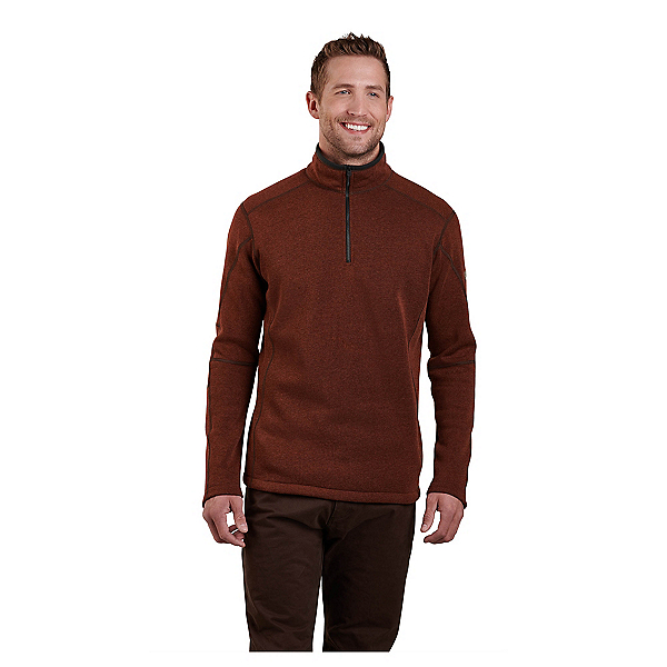 KUHL Revel 1/4 Zip Mens Sweater, Red Rock, 600