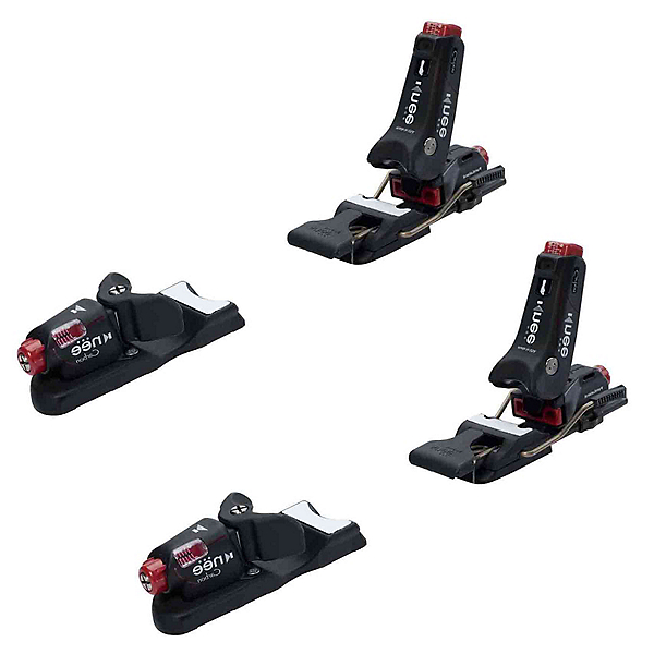Knee Binding Carbon Wide Brake Ski Bindings, Black, 600
