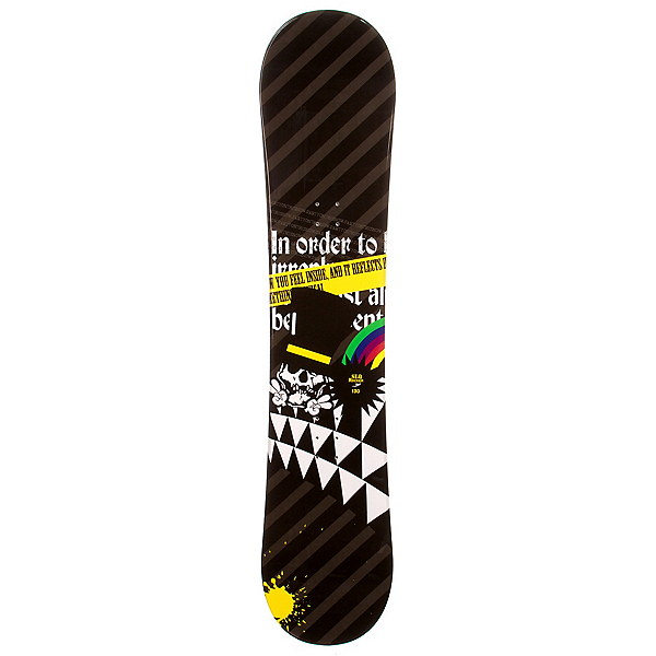 SLQ Black Rainbow Rocker Boys Snowboard, , 600