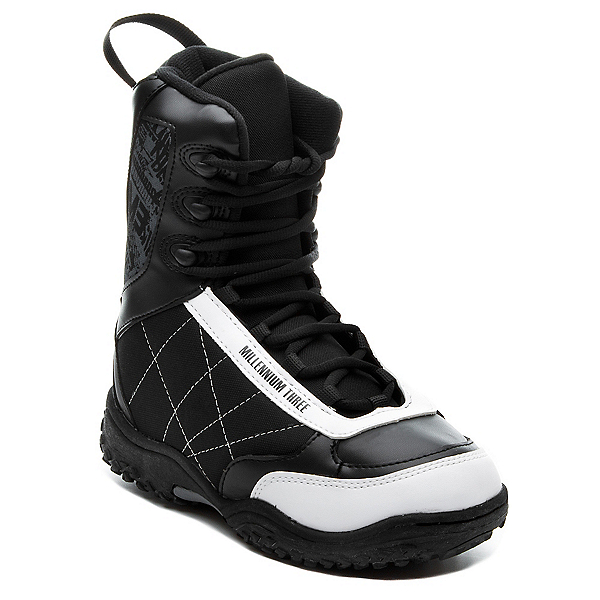 Millenium 3 Militia Junior 11-12 Kids Snowboard Boots, Black-White, 600