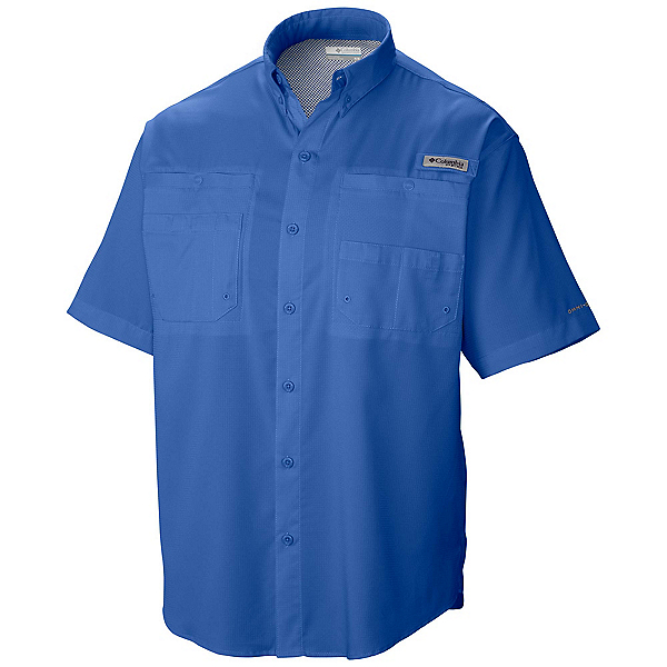 Columbia PFG Tamiami II Short Sleeve Mens Shirt, Vivid Blue, 600