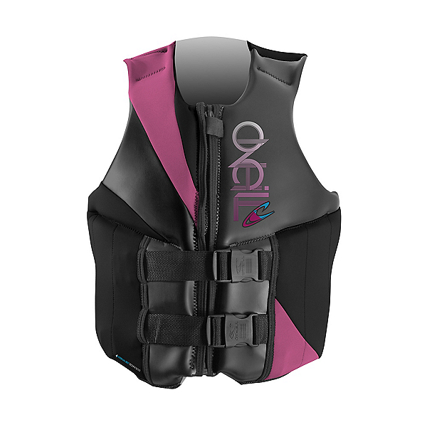 O'Neill Money Womens Life Vest, Black-Petunia-Graphite, 600