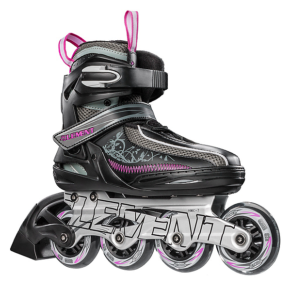 5th Element Lynx LX Womens Inline Skates, Black-Violet, 600