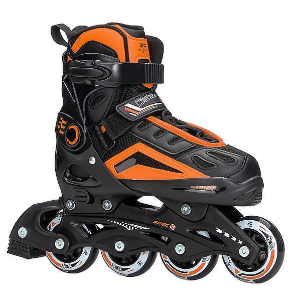 5th Element B2-100 Adjustable Kids Inline Skates 2020, Black-Orange, 600