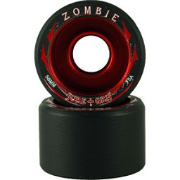 Sure Grip International Zombie Roller Skate Wheels - 8 Pack, Black-Red, 256